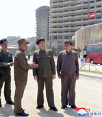 Kim Jae Ryong Inspects Wonsan-Kalma Coastal Tourist Area under Construction