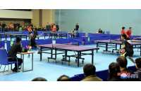 Officials Compete in Table-Tennis Matches